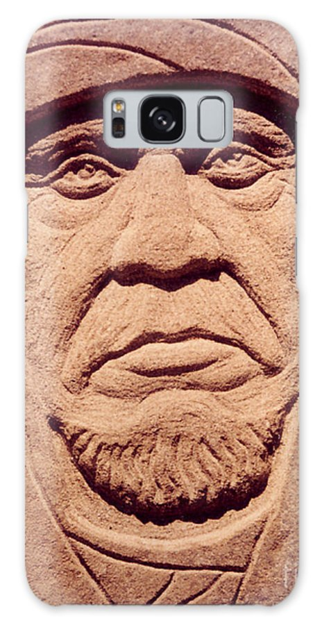 American Indians Galaxy S8 Case featuring the sculpture Chief-keokuk by Gordon Punt