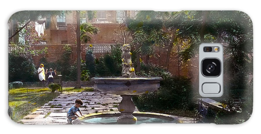 Tranquil Galaxy S8 Case featuring the photograph Child And Fountain by Terry Reynoldson