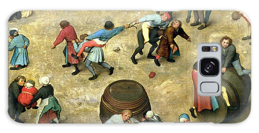 Stick And Hoop Galaxy S8 Case featuring the photograph Childrens Games Kinderspiele Detail Of Bottom Section Showing Various Games, 1560 Oil On Panel by Pieter the Elder Bruegel