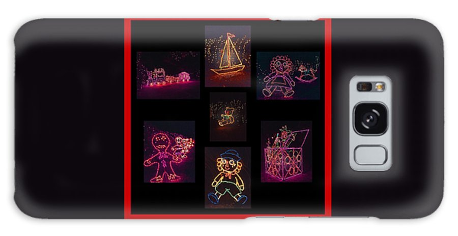 Digital Art Galaxy S8 Case featuring the photograph Children's Toys In Lights Poster 2 by Marian Bell