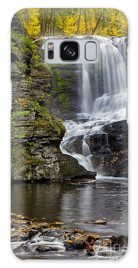 Waterfall Galaxy S8 Case featuring the photograph Childs Park Waterfall by Susan Candelario