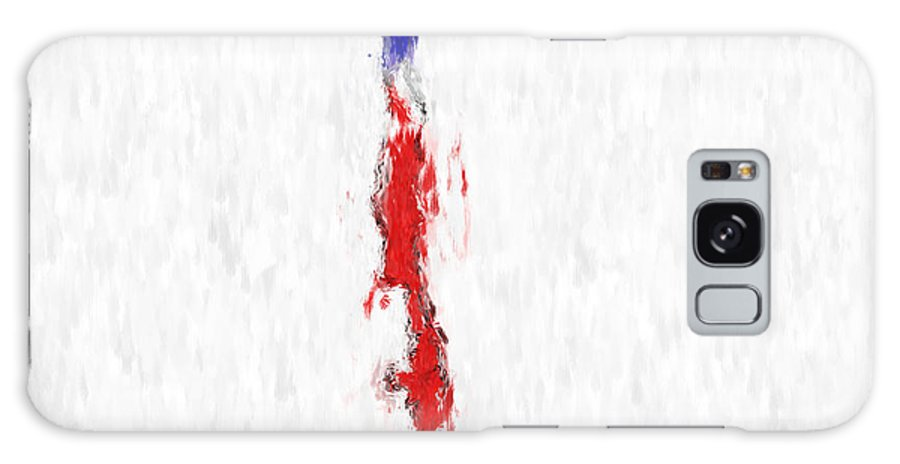 Chile Galaxy S8 Case featuring the painting Chile Painted Flag Map by Antony McAulay