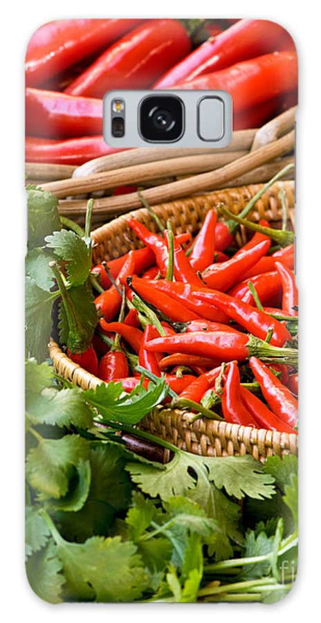 Basket Galaxy S8 Case featuring the photograph Chillies 04 by Rick Piper Photography