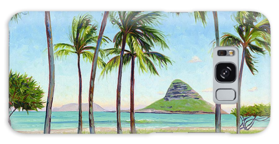 Chinamans Hat Galaxy Case featuring the painting Chinamans Hat - Oahu by Steve Simon