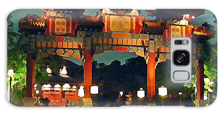 Chinese Entrance Arch Galaxy S8 Case featuring the painting Chinese Entrance Arch by John Malone
