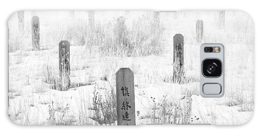 Canadian Pacific Railway Galaxy S8 Case featuring the photograph Chinese Grave Markers by Theresa Tahara