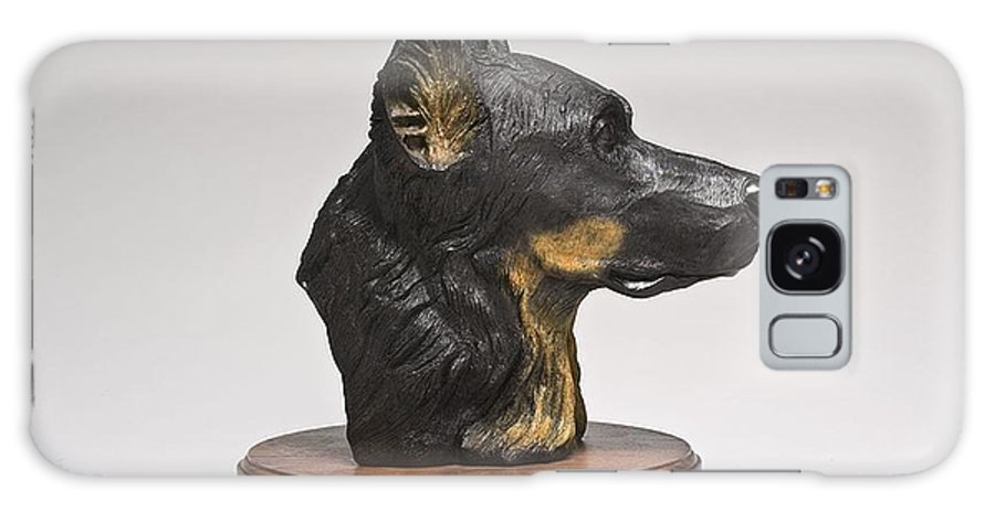 Dog.dogs.beauceron Galaxy S8 Case featuring the sculpture Chippie by Victor Douieb