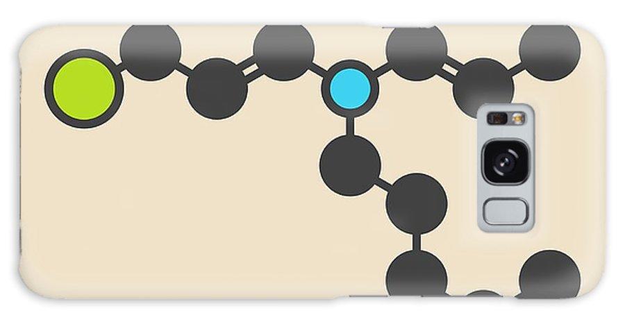 Chlorpromazin Galaxy Case featuring the photograph Chlorpromazine Antipsychotic Molecule by Molekuul