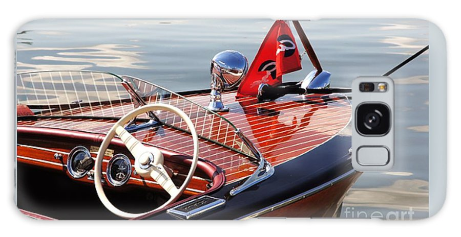 Boat Galaxy S8 Case featuring the photograph Chris Craft Deluxe Runabout by Neil Zimmerman