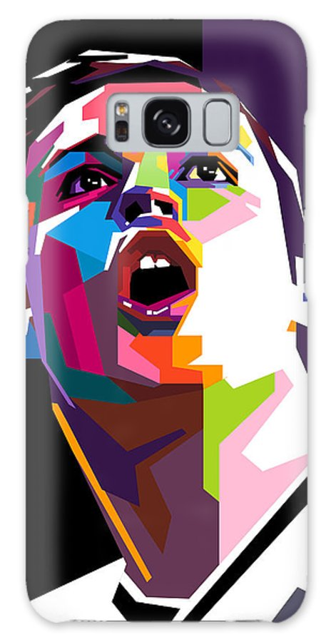 Digital Art Galaxy S8 Case featuring the digital art Christiano Ronaldo by Ahmad Nusyirwan