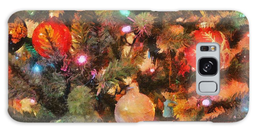 Angel Galaxy S8 Case featuring the painting Christmas Branches by Jeffrey Kolker