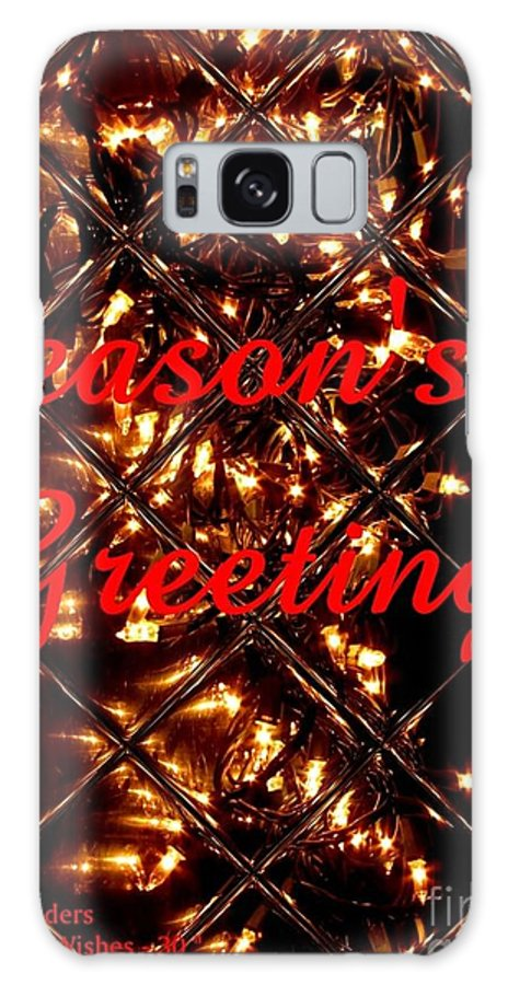 Modern Galaxy S8 Case featuring the photograph Christmas Cards And Artwork Christmas Wishes 30 by Gert J Rheeders