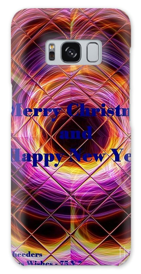 Modern Galaxy S8 Case featuring the painting Christmas Cards And Artwork Christmas Wishes 75 V by Gert J Rheeders