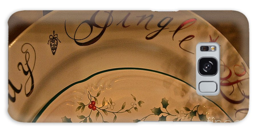 Christmas Galaxy S8 Case featuring the photograph Christmas Dinnerware by Susan Herber