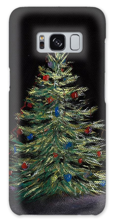 Single Galaxy S8 Case featuring the painting Christmas Eve by Anastasiya Malakhova