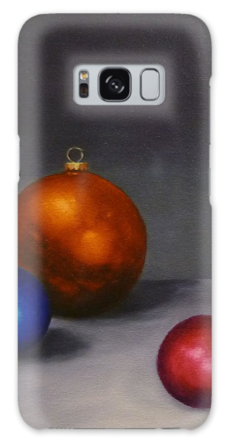 Jo Appleby Galaxy S8 Case featuring the painting Christmas Glow Greeting Card by Jo Appleby