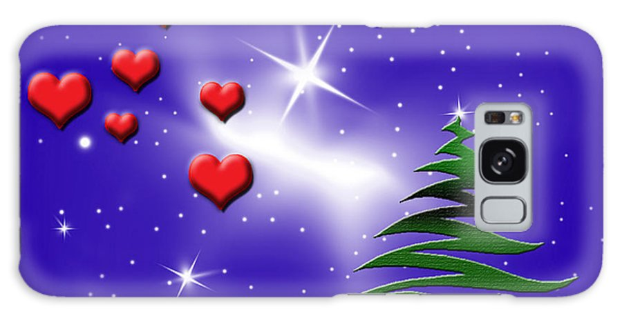 Hearts Galaxy S8 Case featuring the photograph Christmas Hearts by Randi Grace Nilsberg
