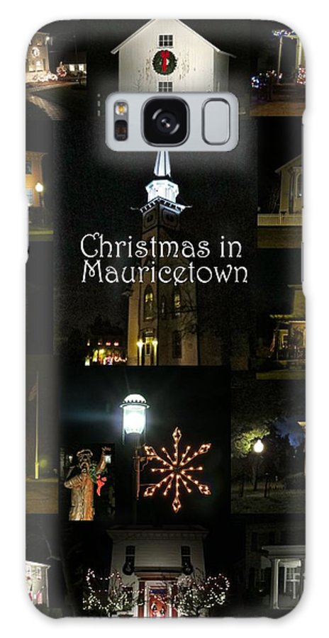 Mauricetown New Jersey Galaxy S8 Case featuring the photograph Christmas In Mauricetown by Nancy Patterson