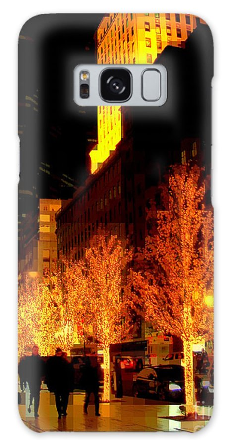 Abstract Galaxy S8 Case featuring the photograph Christmas In New York - Trees And Star by Miriam Danar