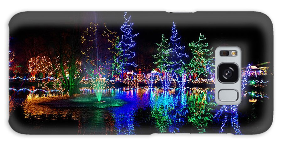 Christmas Galaxy S8 Case featuring the photograph Christmas Lights by Rob Mclean