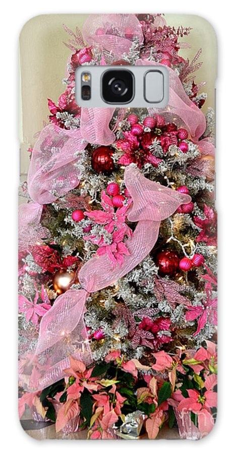 Christmas Galaxy S8 Case featuring the photograph Christmas Pink by Mary Deal