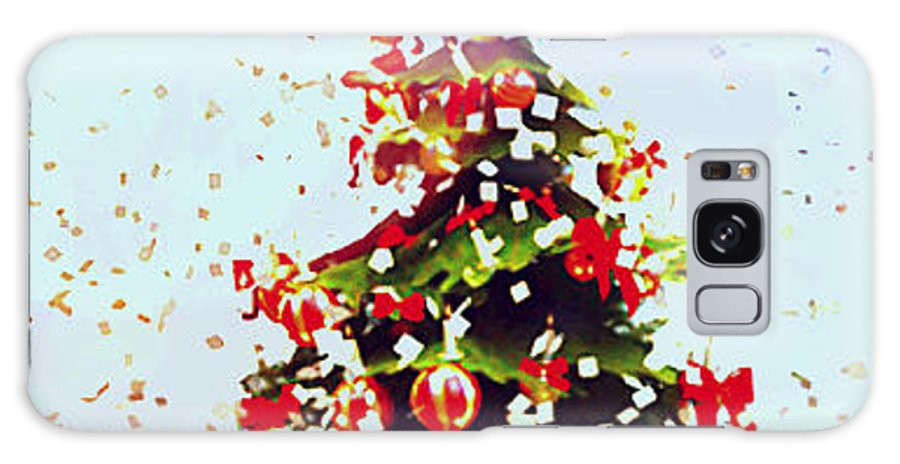 Christmas Tree. Holiday. Photograph. Gift. Supplies. Happy. Rose Wang Image. Rose Wang Art. Custome Order. Greeting Cards. Women Art. Galaxy S8 Case featuring the photograph Christmas Tree by Rose Wang