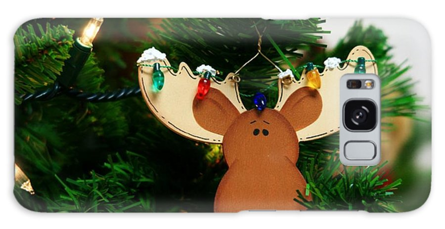 Moose Galaxy S8 Case featuring the photograph Christmoose by Karen Jones