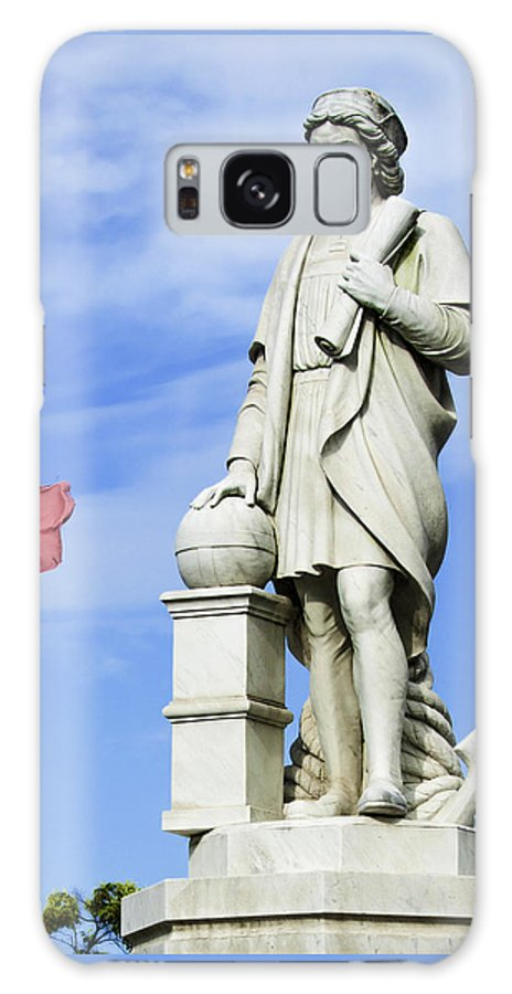 Christopher Columbus Galaxy S8 Case featuring the photograph Christopher Columbus Baltimore Statue by Phil Cardamone