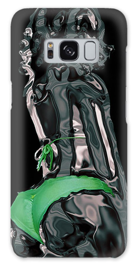 Model Galaxy S8 Case featuring the digital art My Chrome Assets 1 by Brian Reaves