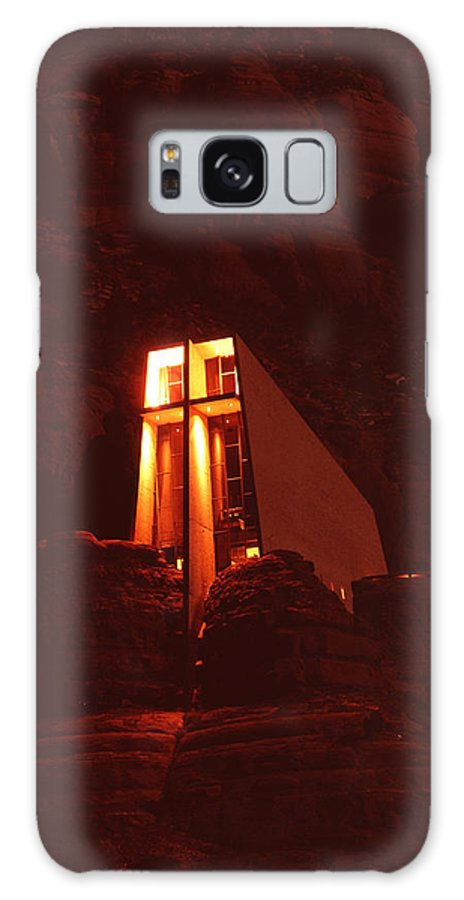 Arizona Galaxy S8 Case featuring the photograph Chapel At Night by Bob Bradshaw
