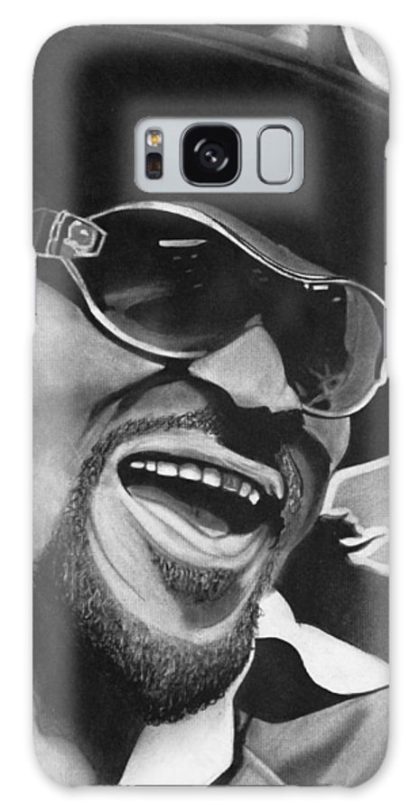 Charcoal Galaxy S8 Case featuring the drawing Chuck Brown by Jason Dunning