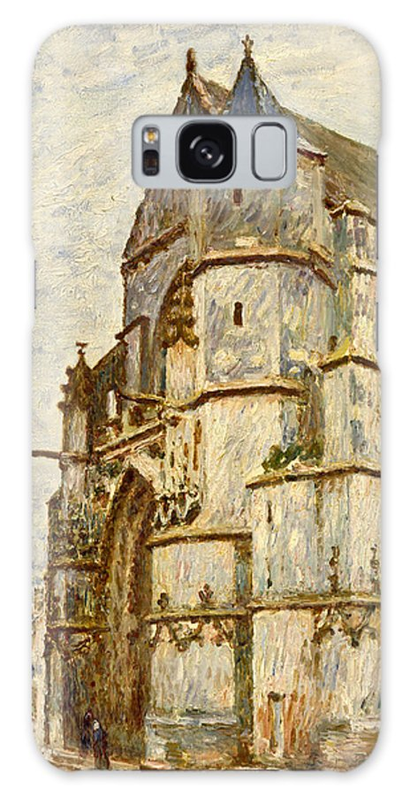 Church Galaxy S8 Case featuring the painting Church At Moret After The Rain by Alfred Sisley