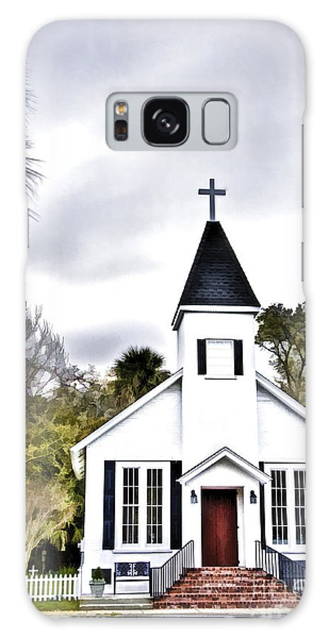 Country Church Galaxy S8 Case featuring the photograph Church In A Small Town by Linda Blair
