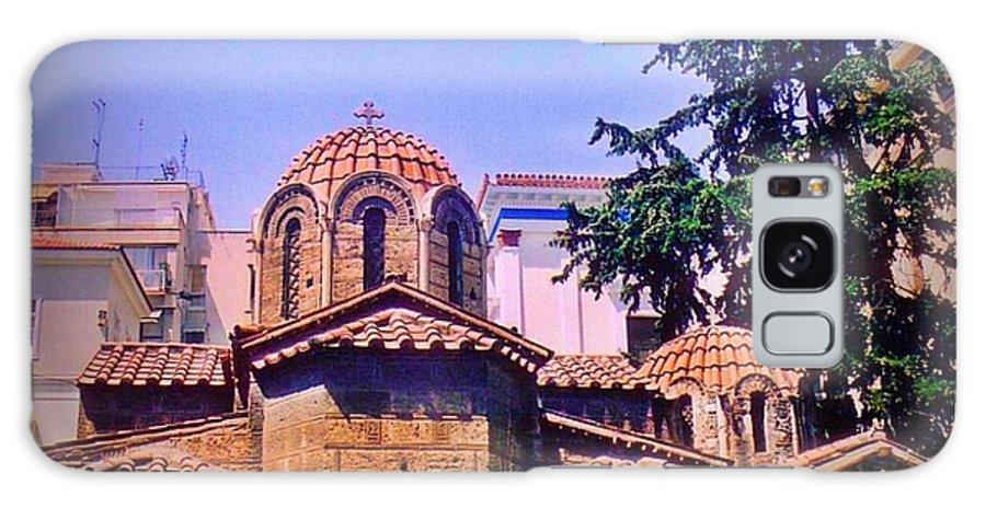 Church In Beautiful Athens Galaxy S8 Case featuring the photograph Church In Beautiful Athens by John Malone