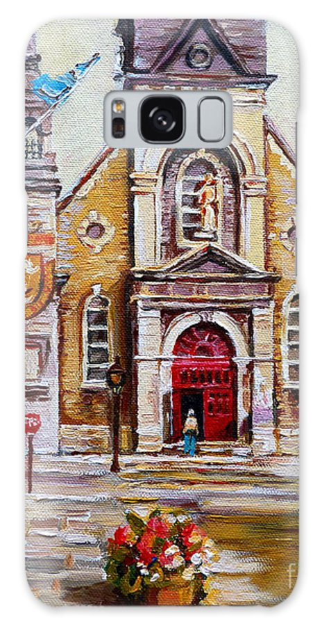 Montreal Churches Galaxy S8 Case featuring the painting Church On Sunday by Carole Spandau