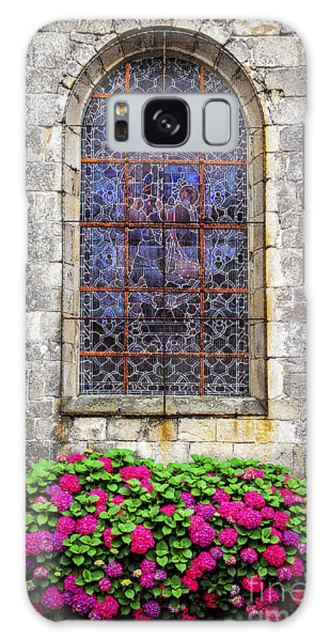 Old Galaxy Case featuring the photograph Church Window In Brittany by Elena Elisseeva