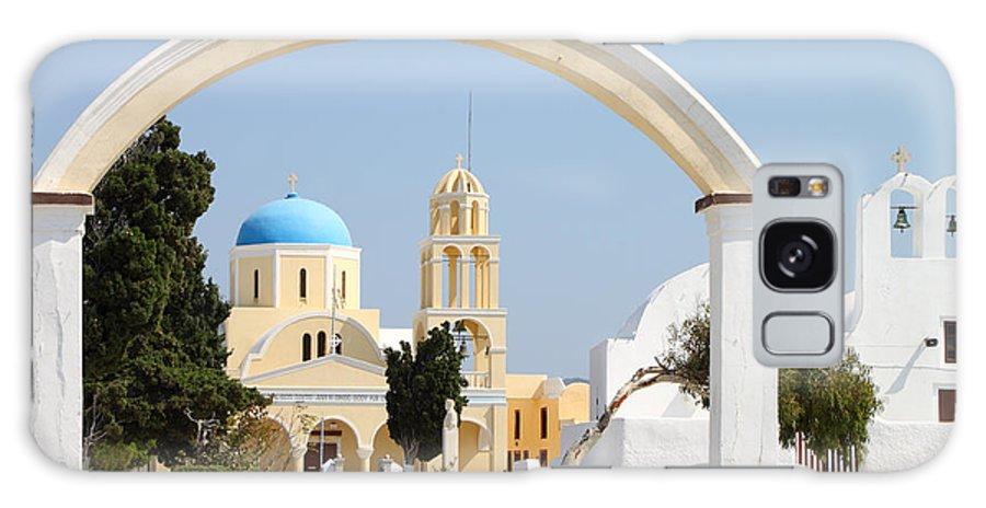 Church Santorini Greece Galaxy S8 Case featuring the photograph Churches Oia Santorini Greek Islands by Carole-Anne Fooks