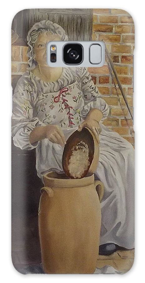 Historic Galaxy S8 Case featuring the painting Churning Butter by Wanda Dansereau