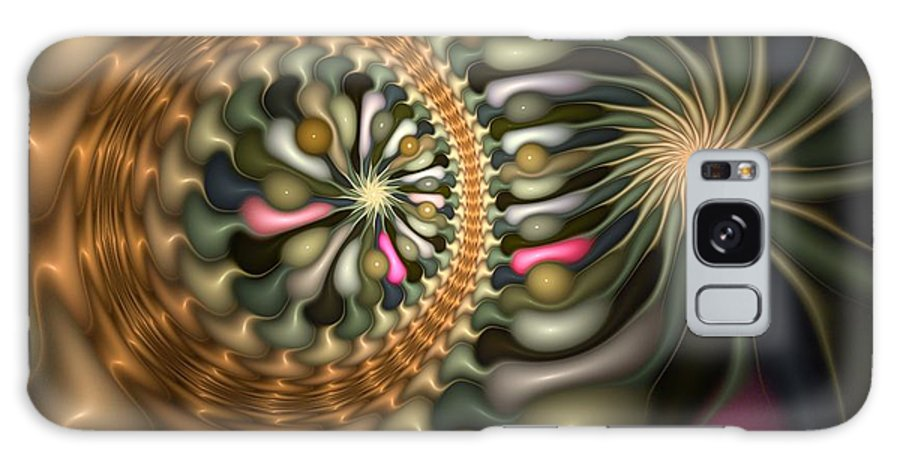 Abstract Galaxy S8 Case featuring the digital art Cicular Logic Overwhelmed by Casey Kotas