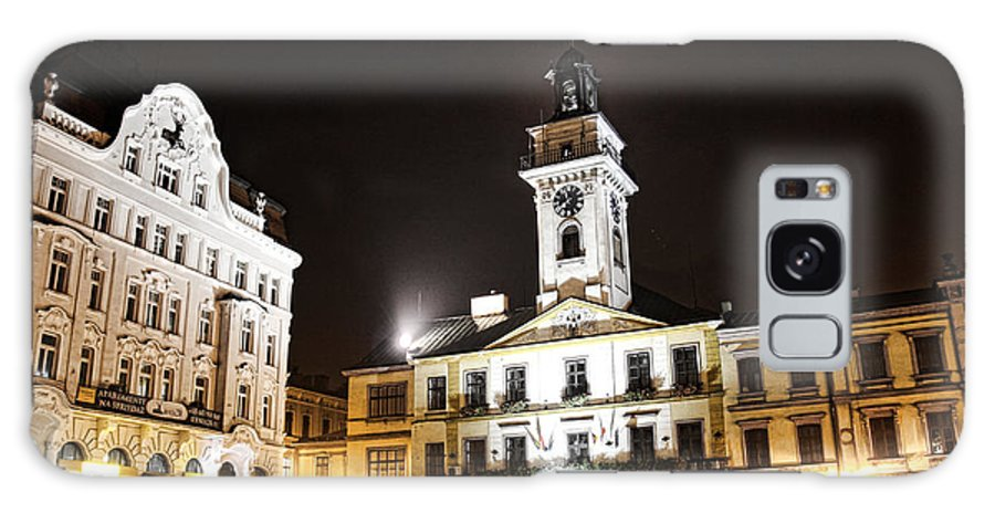 Cieszyn Town Center At Night Galaxy S8 Case featuring the photograph Cieszyn Town Center At Night by Mariola Bitner