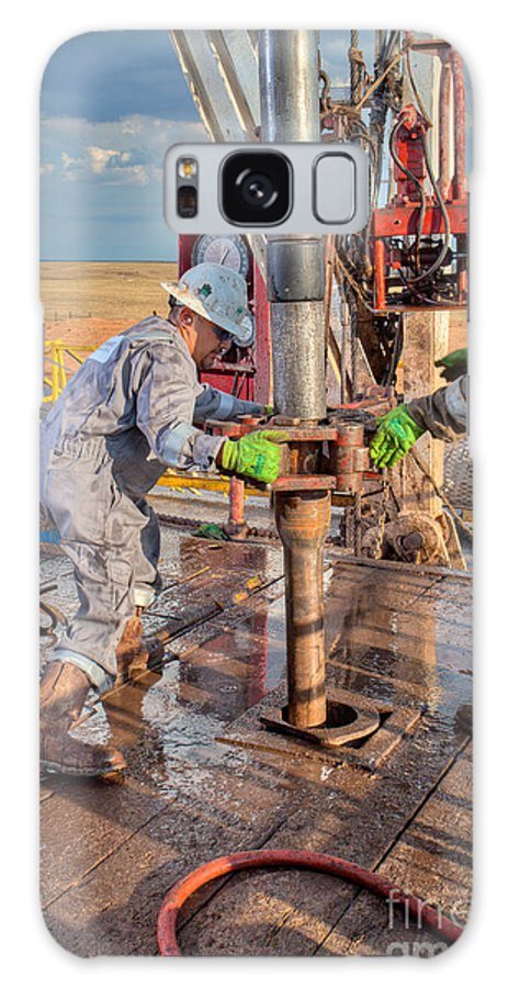 Oil Rig Galaxy S8 Case featuring the photograph Cim001-9 by Cooper Ross