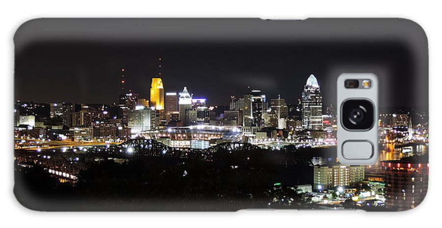 City Galaxy S8 Case featuring the photograph Cincinnati Skyline At Night From Devou Park by Cityscape Photography