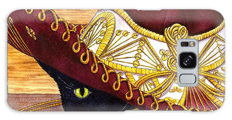 Cat Galaxy Case featuring the painting Cinco De Mayo by Catherine G McElroy
