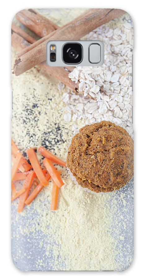Muffin Galaxy Case featuring the photograph Cinnamon, Grains, Nuts And Carrots by Laurie Castelli