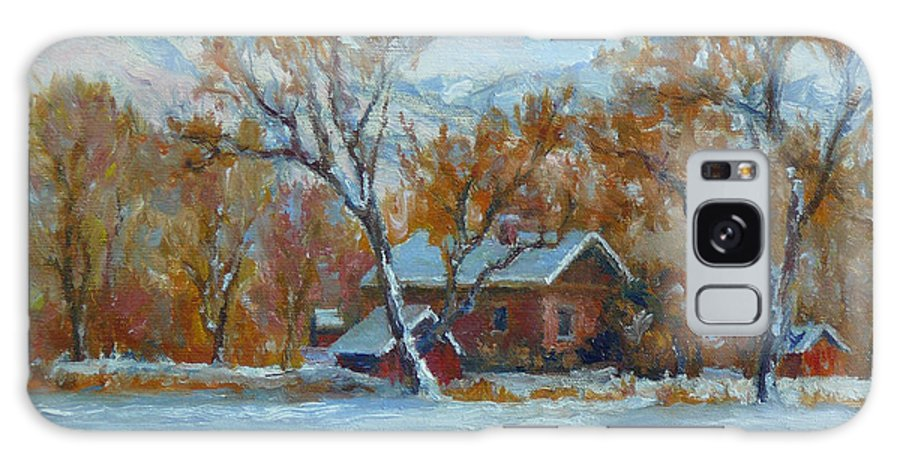 Landscape Painting - Original Oil Painting Artwork; Plein Air; Art Of Lynn T Bright Galaxy S8 Case featuring the painting Cinnamon House by Lynn T Bright