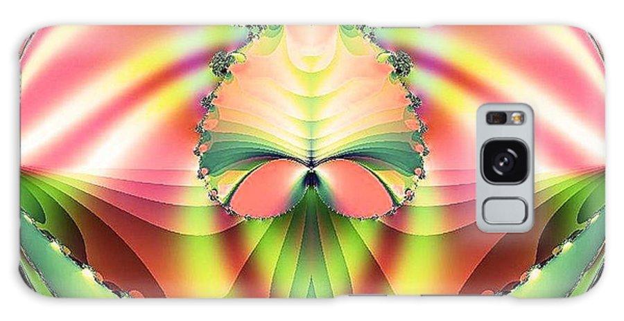 Circle Of Rainbows Galaxy S8 Case featuring the digital art Circle Of Rainbows by Maria Urso