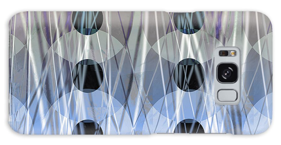 Abstract Galaxy S8 Case featuring the digital art Circles Abstract Art by Ann Powell