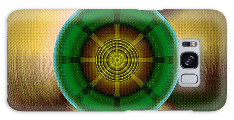 Hypnotic Geometric Galaxy S8 Case featuring the digital art Circles In A Square 9 by Warren Furman