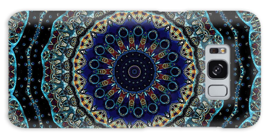 Kaleidoscope Galaxy S8 Case featuring the photograph Circles Of Blue by Brenda Hackett