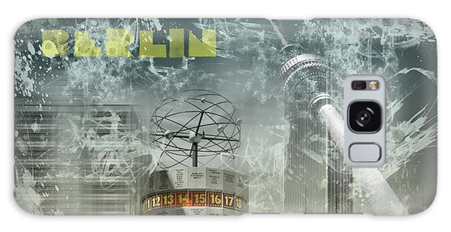 Abstract Galaxy S8 Case featuring the photograph City-art Berlin Alexanderplatz by Melanie Viola